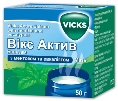 ВИКС АКТИВ БАЛЬЗАМ С МЕНТОЛОМ И ЭВКАЛИПТОМ (VICKS ACTIVE BALM WITH MENTHOL AND EUCALYPTUS)