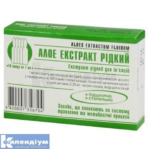 АЛОЕ ЕКСТРАКТ РІДКИЙ інструкція із застосування