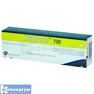 ХАВРИКС вакцина для профілактики гепатита А