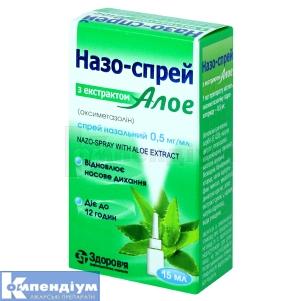 Назо-Спрей з екстрактом алое інструкція із застосування