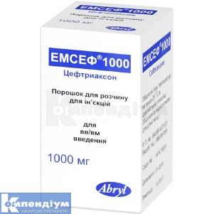ЕМСЕФ 1000 інструкція із застосування