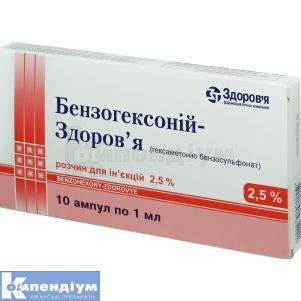 Бензогексоній-Здоров'я інструкція із застосування