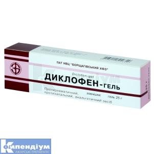 Диклофен-гель інструкція із застосування