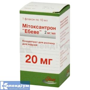 МІТОКСАНТРОН «ЕБЕВЕ» інструкція із застосування