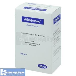 АБИФЛОКС розчин для інфузій інструкція із застосування