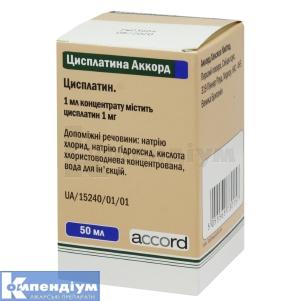 Цисплатина Аккорд інструкція із застосування
