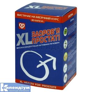 XL-здоров'я простати інструкція із застосування
