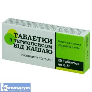 Таблетки з термопсисом