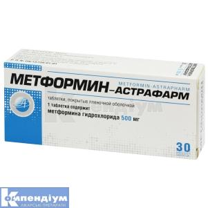 МЕТФОРМІН-АСТРАФАРМ інструкція із застосування