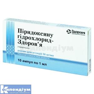 ПІРИДОКСИНУ ГІДРОХЛОРИД-ЗДОРОВ'Я