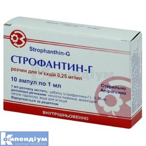 Строфантин-Г інструкція із застосування