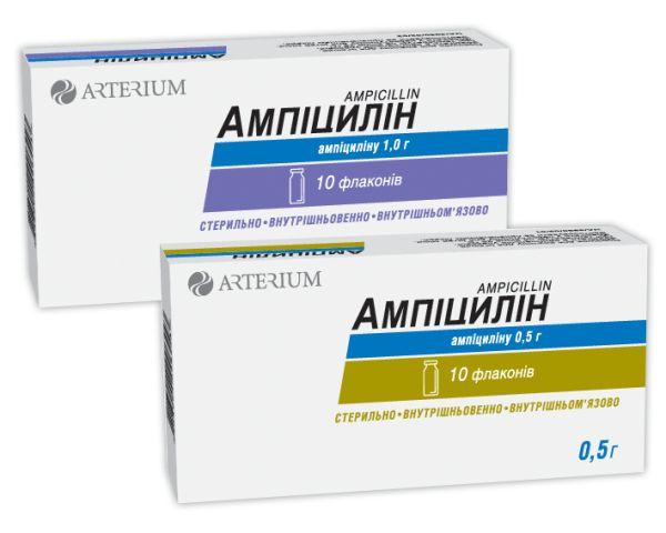 Ампіцилін для ін'єкцій інструкція із застосування