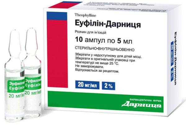 Еуфілін-Дарниця інструкція із застосування
