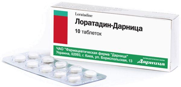 ЛОРАТАДИН-ДАРНИЦЯ інструкція із застосування