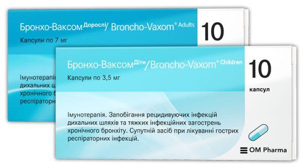 Бронхо-Ваксом інструкція із застосування