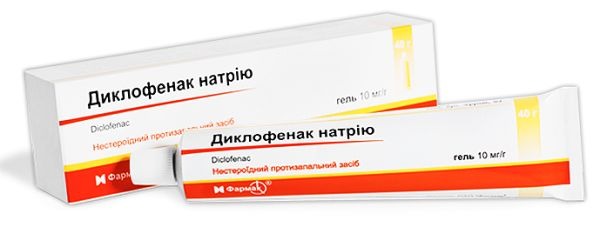 Диклофенак натріюгель інструкція із застосування