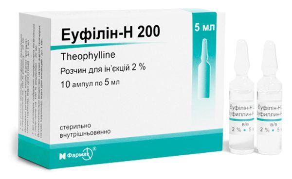 ЕУФІЛІН-Н 200 інструкція із застосування
