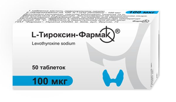 L-ТИРОКСИН-ФАРМАК таблетки 100 мкг інструкція із застосування