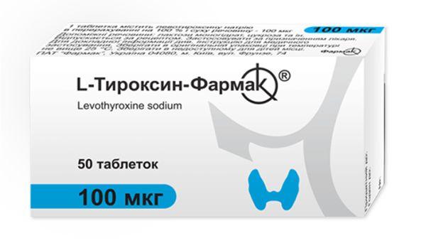 L-Тироксин-Фармактаблетки 100 мкг інструкція із застосування