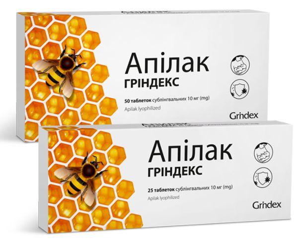 АПІЛАК ГРІНДЕКС таблетки інструкція із застосування