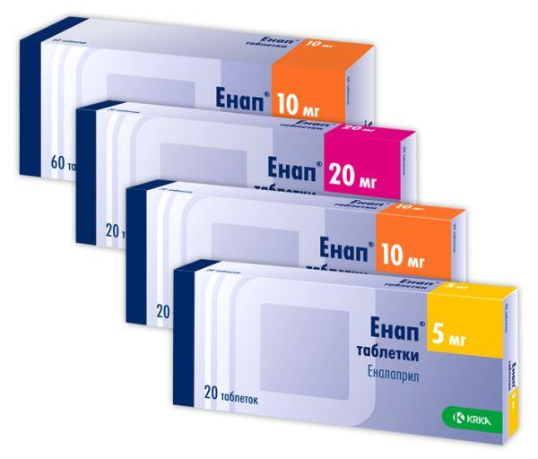 ЕНАП таблетки інструкція із застосування