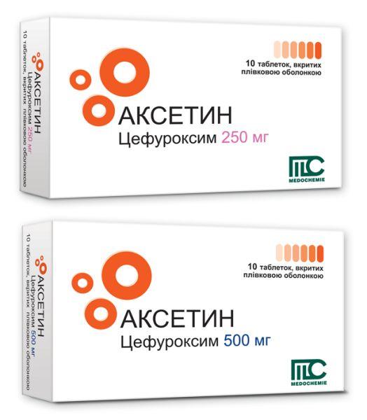 Аксетин таблетки інструкція із застосування