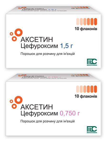 Аксетин порошок для розчину для ін'єкцій інструкція із застосування