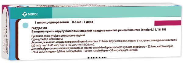 ГАРДАСИЛ вакцина проти вірусу папіломи людини інструкція із застосування