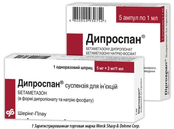 ДИПРОСПАН інструкція із застосування