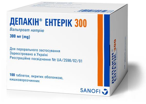 Депакін Ентерік 300 інструкція із застосування