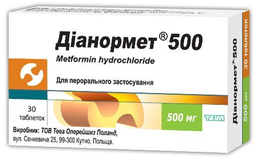 ДІАНОРМЕТ 500 інструкція із застосування