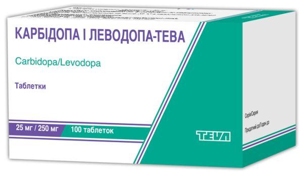 Карбідопа і леводопа-Тева інструкція із застосування
