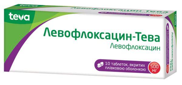 ЛЕВОФЛОКСАЦИН-ТЕВА інструкція із застосування