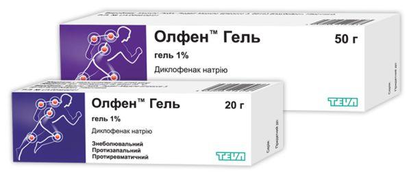 ОЛФЕН ГЕЛЬ інструкція із застосування