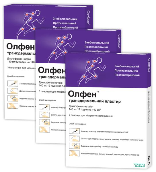 Олфен трансдермальний пластир інструкція із застосування