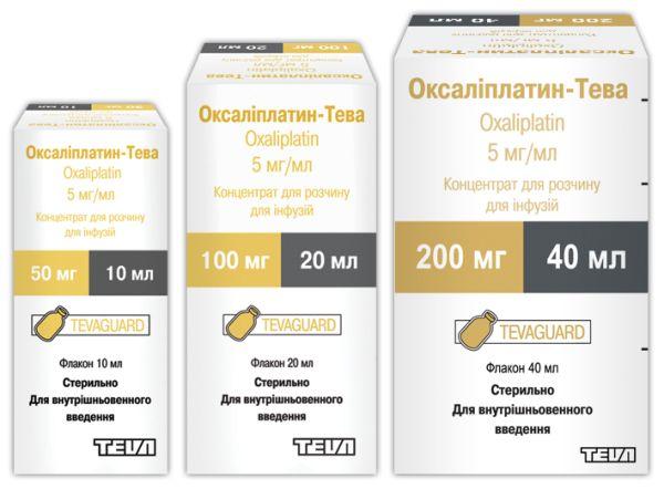 Оксаліплатин-Тева інструкція із застосування