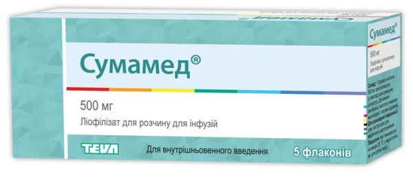 Сумамед ліофілізат для розчину для інфузій