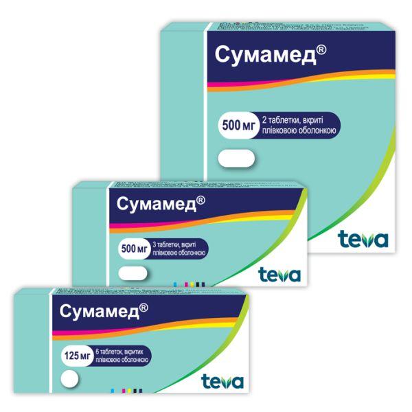 СУМАМЕД таблетки інструкція із застосування
