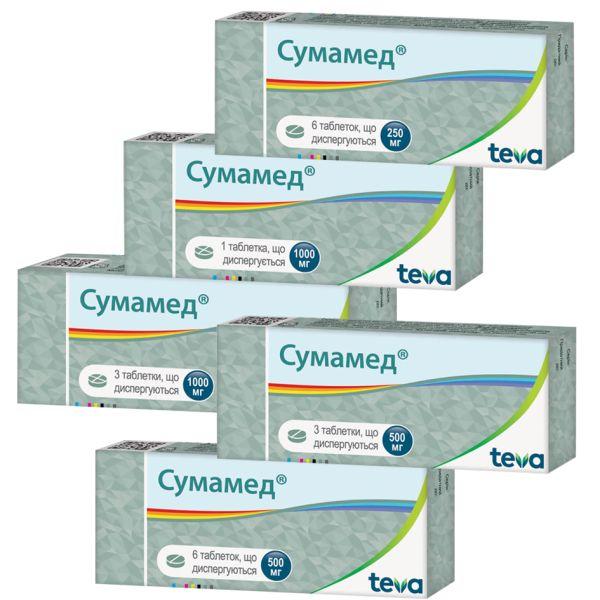 Сумамед таблетки, що диспергуються інструкція із застосування
