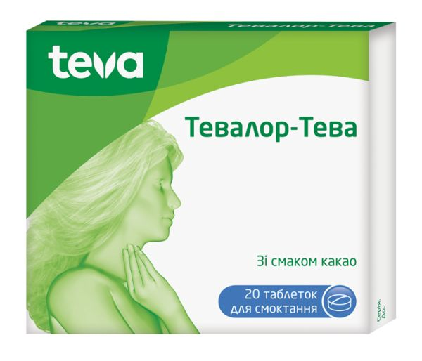 ТЕВАЛОР-ТЕВА інструкція із застосування