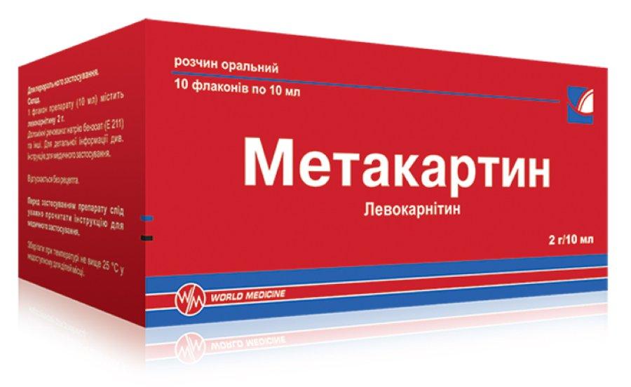 Метакартин розчин оральний інструкція із застосування