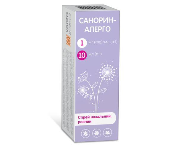 Санорин-Алерго інструкція із застосування