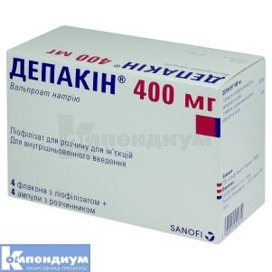 ДЕПАКИН 400 мг инструкция по применению