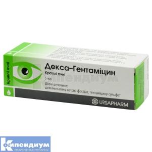 Декса-Гентамицин инструкция по применению