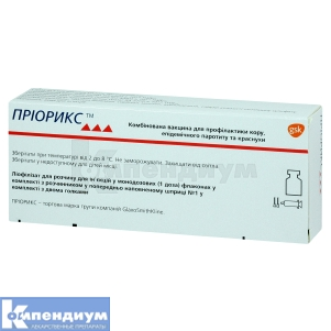 ПРИОРИКС Комбинированная вакцина для профилактики кори, эпидемического паротита и краснухи