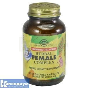 Травяной комплекс для женщин, Solgar Vitamin and Herb