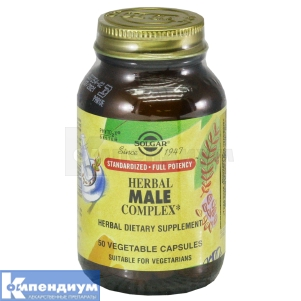 Травяной комплекс для мужчин, Solgar Vitamin and Herb
