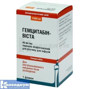 Гемцитабин-Виста инструкция по применению