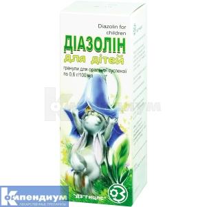 Диазолин для детей инструкция по применению