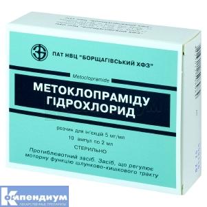 Метоклопрамида гидрохлорид инструкция по применению